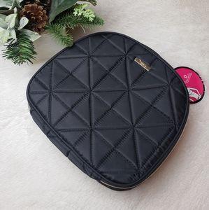 Modella Black Quilted Makeup Travel Bag